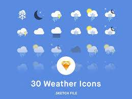 free weather app icons sketch psdblast