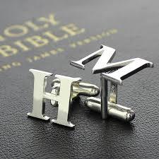 personalized wedding cufflinks aliexpress buy personalized sterling silver men initial