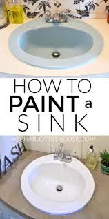 Paint Bathroom Fixtures by How To Paint A Sink