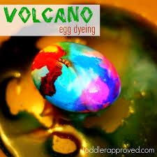 volcano egg dyeing egg dye volcano and egg