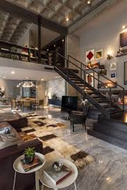 Modern Urban Green Loft Design Mosler Lofts Digsdigs by Loft Interior Design Sherrilldesigns Com