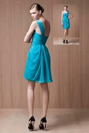 robe turquoise pour mariage robe de cocktail turquoise plissée volants en mousseline persun fr
