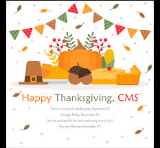 cms on a safe and happy thanksgiving