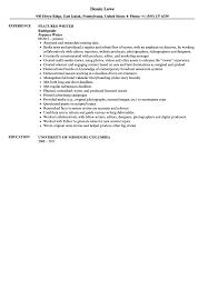 Writers Resume Template Features Writer Resume Sample Velvet Jobs