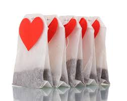 heart shaped tea bags tea bags with blank heart shaped labels stock image image of