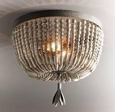 wood bead ceiling light new rh baby child dauphine flushmount wood ceiling light aged