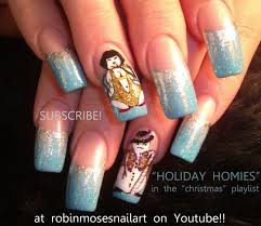 robin moses nail art christmas nail art christmas nails cute