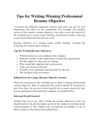 resume objectives for it professionals pretty looking writing a