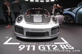 2018 porsche 911 gt2 rs 991 2 front at iaa 2017 indian autos blog