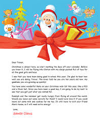 personalized letter from santa free santa letter christmas santa free