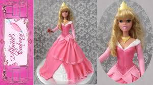 sleeping beauty princess aurora doll cake