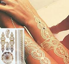 wholesale fashion body art flash metallic temporary tattoos gold