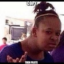 Meme Copy And Paste - copy confused black girl meme on memegen