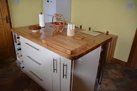 kitchen island with cutting board top prime oak worktop gallery intended for cutting board kitchen