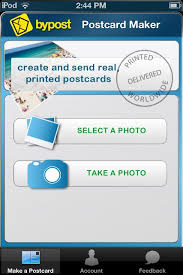 bypost postcard maker app review send a customized postcard