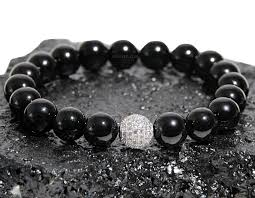 sterling silver black onyx bracelet images Lance quot boybeads 10mm polished black onyx sterling silver pave jpg