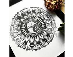 yin yang art etsy