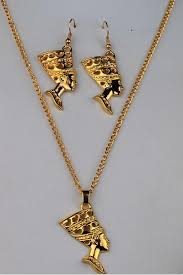 antique jewelry necklace sets images 1 set lot hot fashion egyptian egypt queen nefertiti 24k gold jpg