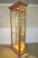 Curio Cabinets Under 200 00 Light Wood Tone Cabinets And Cupboards Ebay