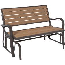 Garden Rocking Bench Lifetime Wood Alternative Patio Glider Bench 60055 The Home Depot