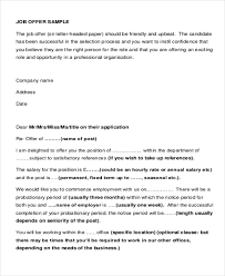 sample proposal offer letter 6 examples in pdf word
