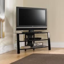 Tv Unit Furniture Online Sauder Mirage Panel Black Clear Tv Stand For Tv U0027s Up To 42