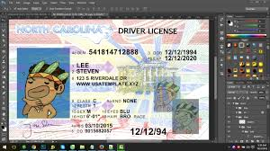 north carolina new driver license psd template nc new driver
