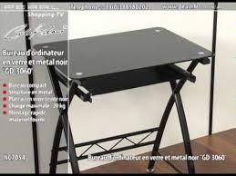 petit bureau en verre nc7054 bureau d ordinateur en verre et métal noir gd 3060