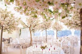 cherry blossom wedding transform your wedding reception into a cherry blossom filled forest