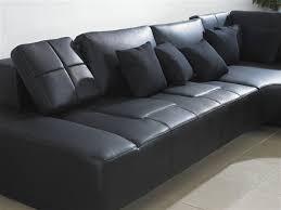 franco leather sofa franco collection modern sectional sofa black tos lf 1007 black sp