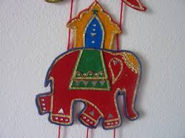 felt wall hanging indian elephant