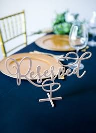 metal reserved table signs wood standing reserved table sign for wedding custom painted