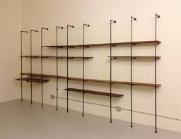 Building Wood Shelf Unit by Lovely Diy Pipe And Wood Shelves 5 Diy Wood Shelving Units