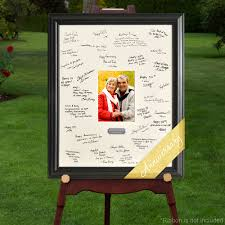 personalized wedding autograph frame personalized celebrations anniversary signature frame