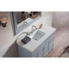 Ace  Inch Transitional Single Sink Bathroom Vanity Set In Grey - Quartz bathroom countertops with sinks