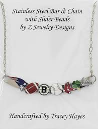 large bead necklace designs images Zjewelrydesigns necklace with bar slider beads JPG