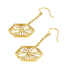 snowflakes tranquility gold earrings
