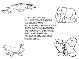 letritas infantiles poesias animales espanol