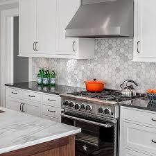 hexagon tile kitchen backsplash white marble hexagon tiles design ideas
