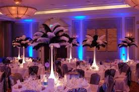Ostrich Feather Centerpieces White Black Ostrich Feather Centerpieces Wedding Jpg 604 400