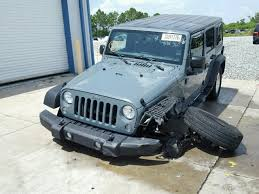 wrecked jeep wrangler for sale salvage car jeep wrangler unlimited 2015 blue for sale in orlando