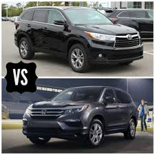 suv toyota 2016 toyota highlander vs honda pilot car comparisons