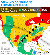 map of oregon to south carolina solar eclipse weather coastal clouds may mar view in oregon