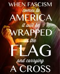 Flag And Cross When Facism Comes To America It Will Be Wrapped In The Flag And