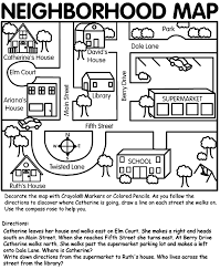 this neighborhood map can be used for teaching map skills to