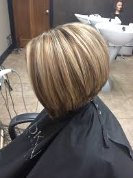 bolnde highlights and lowlights on bob haircut honey blonde with a warm neutral lowlight haircut is a slightly