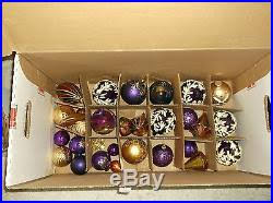 wow must see huge lot vintage glass christmas ornaments
