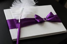 purple wedding guest book purple wedding guest book with pen custom made in purple