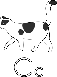 clipart letter c for cat for coloring