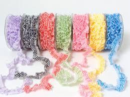 3 4 inch elastic plaid ruffle ribbon may arts wholesale ribbon
